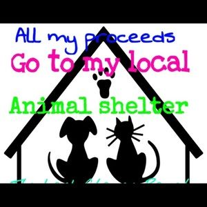 All my proceeds go to my local animal shelter.